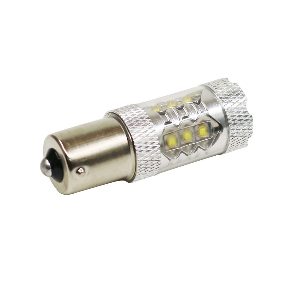 1PCS Car lights Sourcing White LED SMD 1156 BA15S S25 P21W Backup Reverse Light Bulb DC12-24V High Power