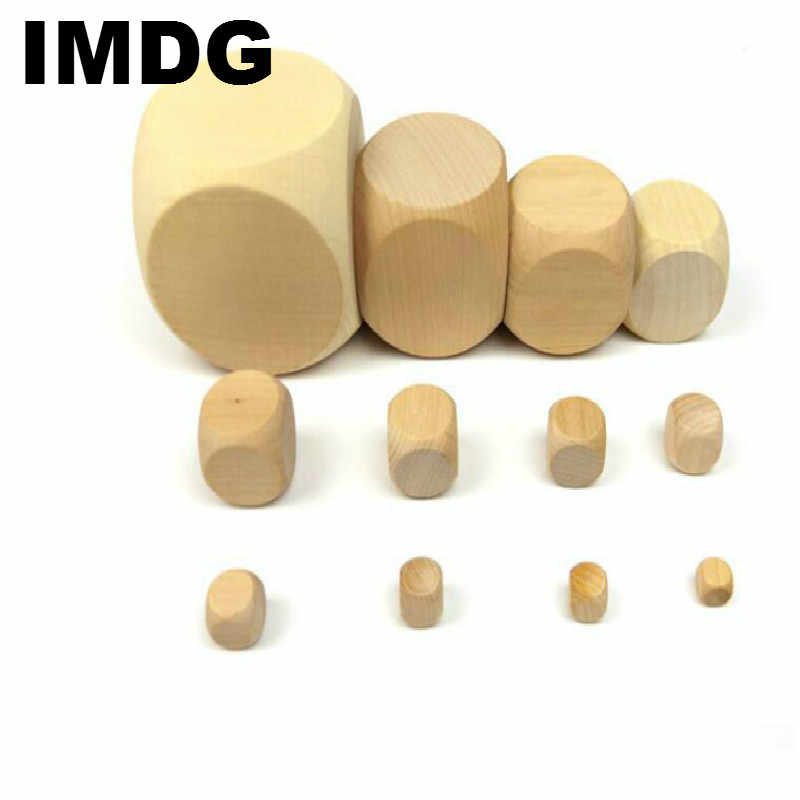 20Pcs/set Manufacturer Direct Selling New Wooden Blank Dice White Board Dice of Various Sizes