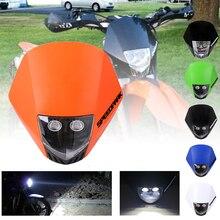 SPEEDPARK Universal Motorcycle  HMX LED Dirtbike/Motorcycle halogen Headlight Fairing for ktm