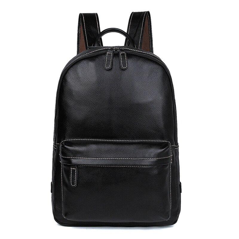 Мужской винтажный рюкзак для путешествий из натуральной кожи, сумка для выходных из натуральной кожи, большой рюкзак для ноутбука 7273A 1