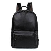 Men Vintage Travel Backpack Real Leather Weekend Bag Genuine Large Laptop 7273A-1
