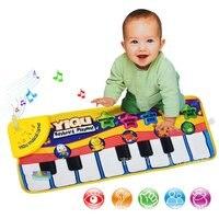 Lustige Tastatur Klavier Matte, Musical Mat, Baby-frühe Bildung Musik Klavier Tastatur Teppich Tier Decke Touch Play Spielzeug für Kinder