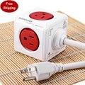Aadaptador Ligue Smart Home 1 Peça Allocacoc PowerCube Prolongado Power Adaptador de Tomada Plug EUA 5 Outlets-125 V 15A