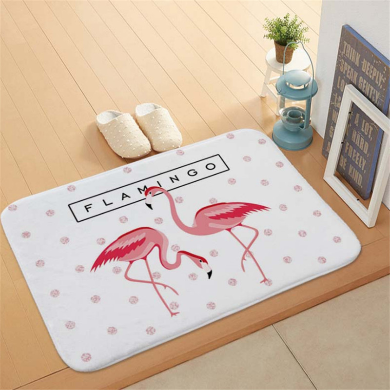 1pc Flamingo HD Printed Non-Slip Bath Mat Absorbent Waterproof Home Decor Flamingo Doormat Flamingo Party Supplies Wedding GiftS 6