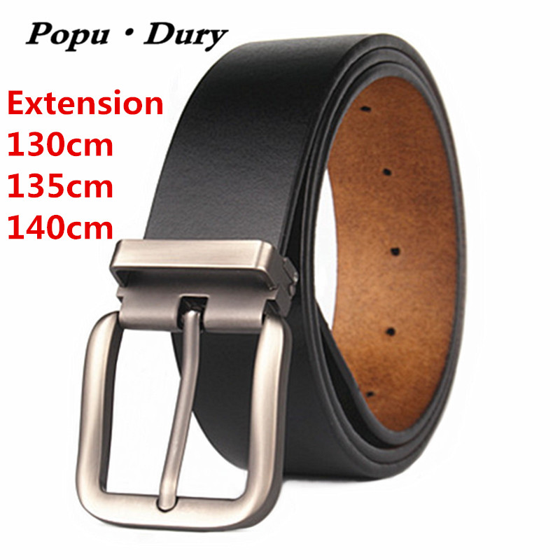 2017 Brand Belt Designer For Mens Belts 100% Pure Cowskin Leather Extension 130cm 135cm 140cm Pin Buckle Straps Ceinture Femme