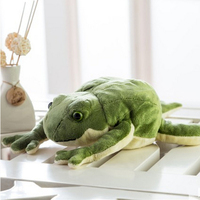 Fancytrader Giant Simulation Animals Frog Toy Soft Plush Anime Frog Doll 60cm for Children Gifts