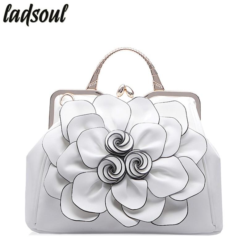 LADSOUL Elegant Women Leather Handbag Luxury Women Bags Floral Design Women Shoulder Bags 2018 Famous Brand Ladies Tote ls4996/g цена