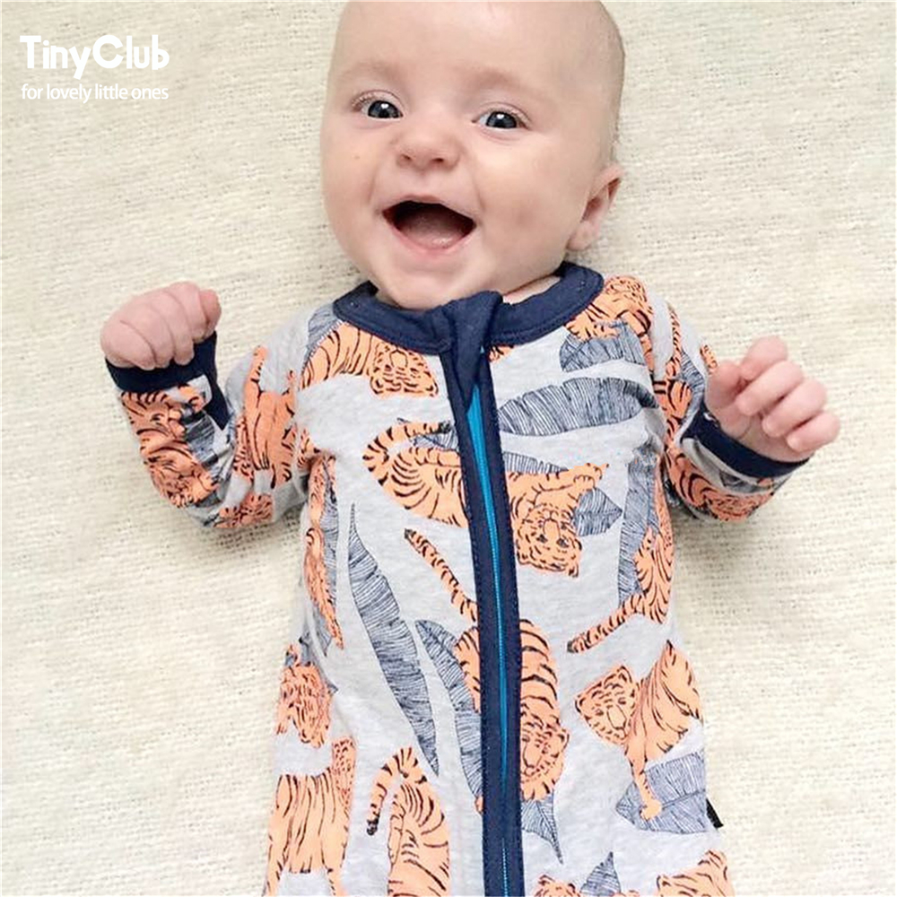 Infant Jumpsuit Long Sleeves Tiger Baby Boy Girl Clothes Tiny Cottons New Born Toddler Onesie Overalls Outfits Pajamas Coverall
