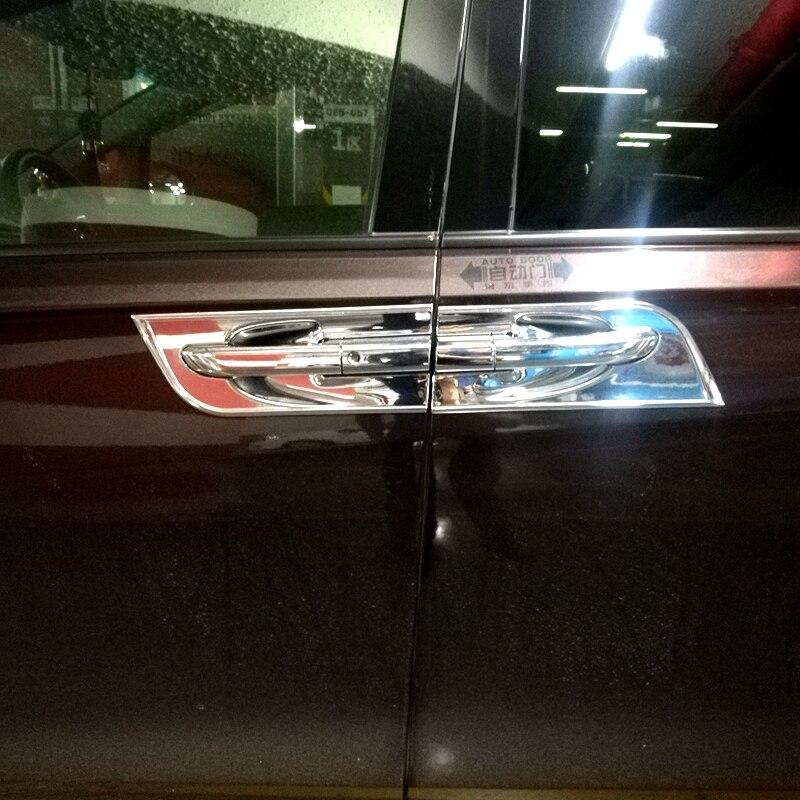 Для Buick GL8 2017 + ABS Chorme дверная ручка крышка чаши планки внешняя дверь чаша ручка двери патч декоративный стикер
