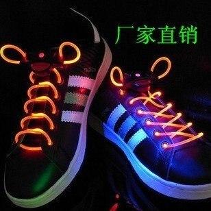 Fashion LED Shoelaces,LED Light Up Shoe Laces,Party Favor Item Flashing disco flash litm glow stick Free shipping