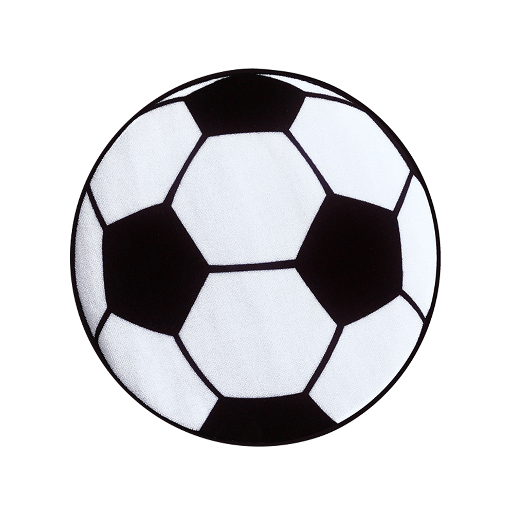 Black White Football Soccer Round Carpet And Rugs Children