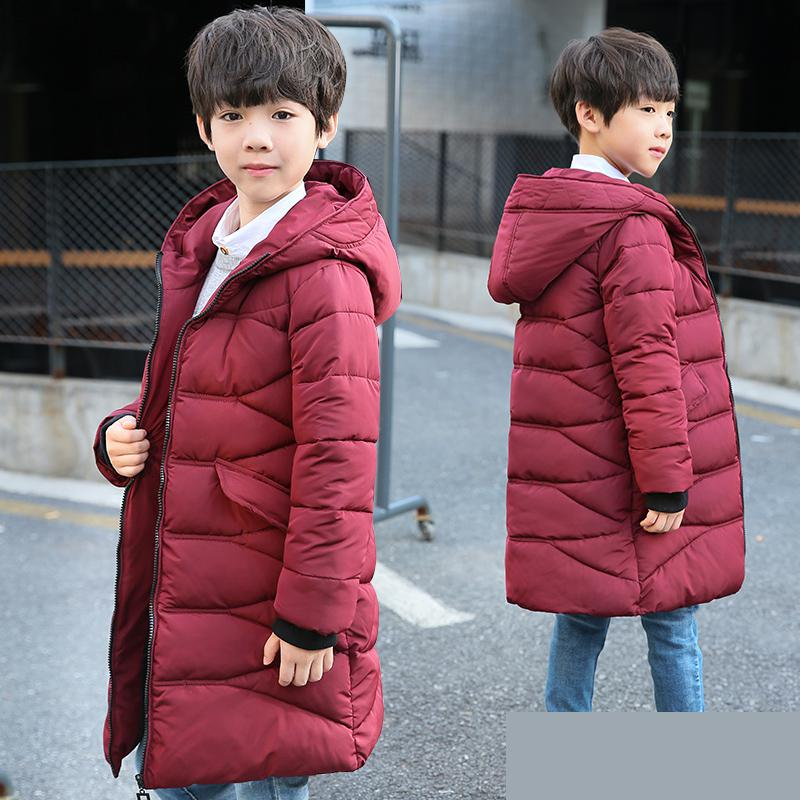 Boys Winter Jacket Warm Thick Hooded Coats 2018 Fashion Toddler Baby Boy Outerwear Children Clothing Kids Clothes Snowsuit Tops