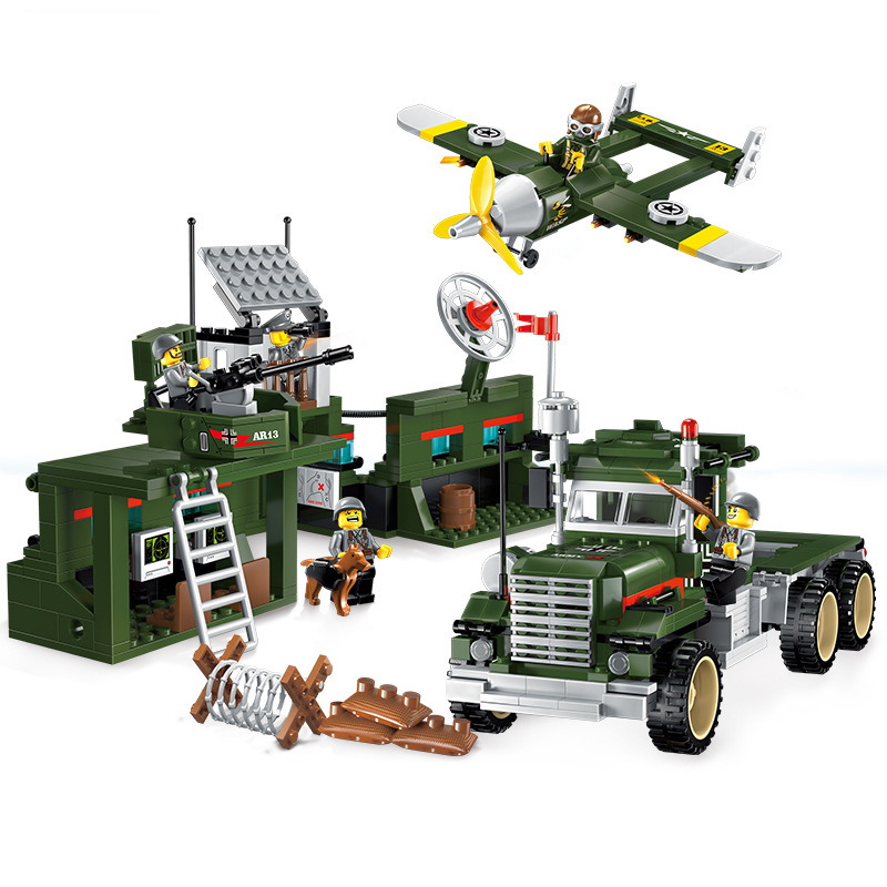 children blocks toys battlefield series of combat car blocks toys assembled model building kits educational diy