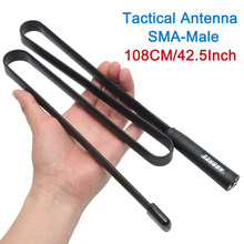 Antenne tactique pliable 2019 SMA-mâle double bande VHF UHF 144/430Mhz pour talkie-walkie TYT MD-380 Wouxun KG-UV9D Plus Radio jambon(China)