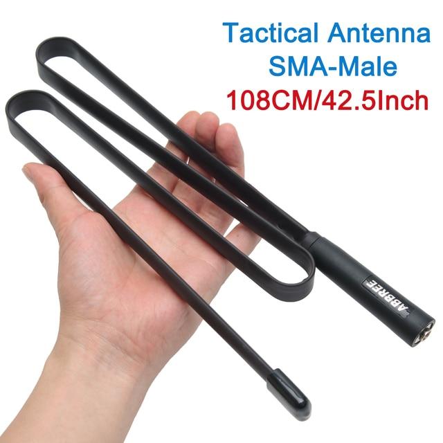 2020 SMA Männlich Dual Band VHF UHF 144/430Mhz Faltbare Taktische Antenne für Walkie Talkie TYT MD 380 wouxun KG UV9D Plus Ham Radio