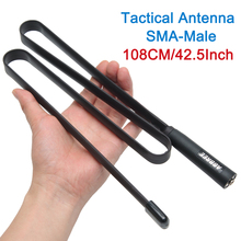 2020 Sma Male Dual Band Vhf Uhf 144/430Mhz Opvouwbare Tactical Antenne Voor Handheld Gps Garmin Alpha 100 50 Astro 430 320 900