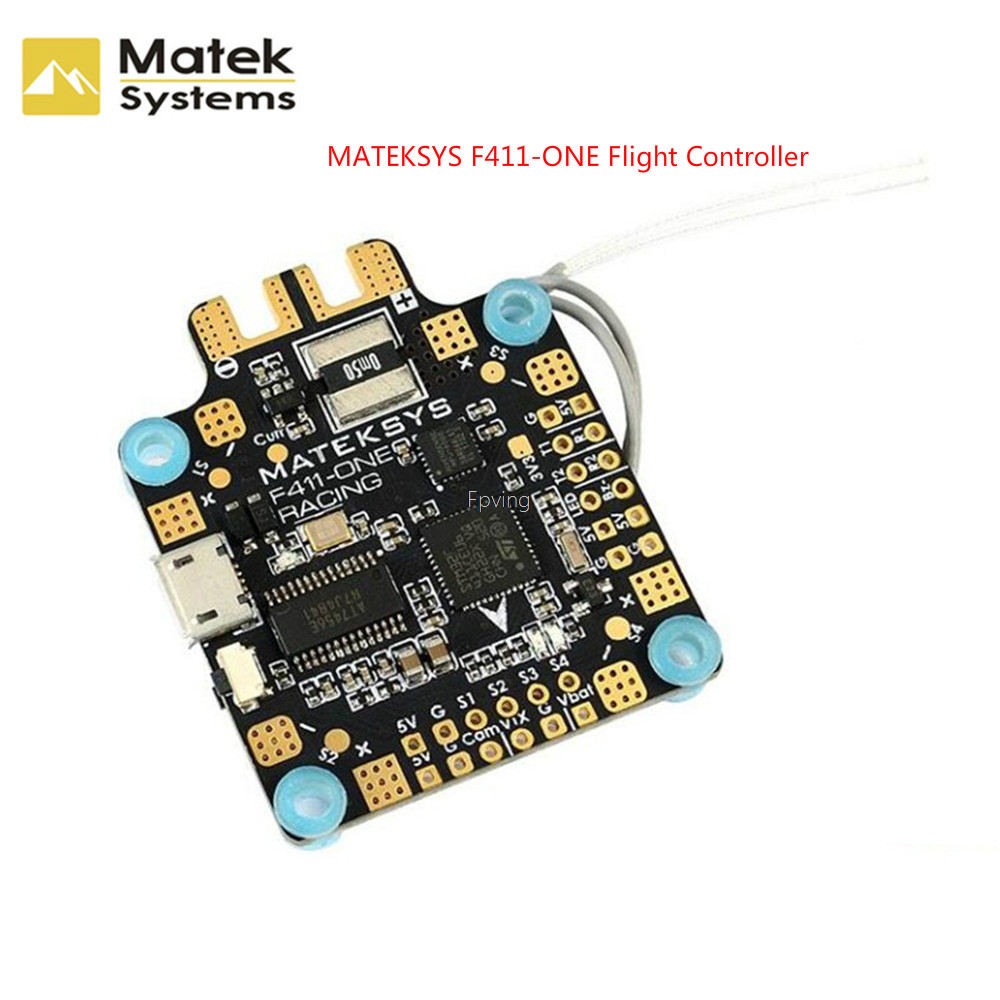 купить Matek System F411-One F411 F4 Flight Controller 30.5*30.5mm BetaFlight OSD 5V BEC Current Sensor For RC Models Multicopter по цене 2851.82 рублей