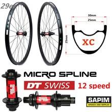 29er Carbon MTB Rim 345g with DT Swiss 240 12 Speed Hub for XC Mountain Bike Wheelset Tubeless Ready Super Light Weight wheel