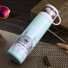 Thermos-Bottle No-Totoro Baymax Kids Mug Vacuum Flasks Stainless-Steel 500ml for Winter