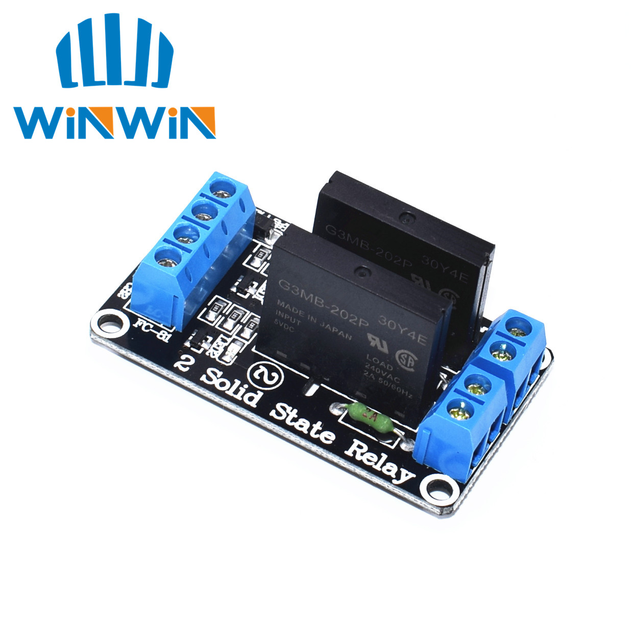 H53 5V 2 Channel SSR low Level Solid State Relay Module 240V 2A(China)