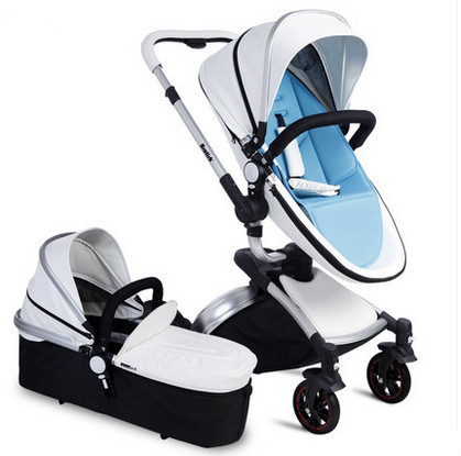 Baby stroller baby sitting and lying high landscape can be two-way portable folding handcart for children