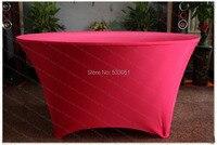אדום כהה לכסות את שולחן סטרץ / לייקרה מפת שולחן / אבנט כיסא / כיסא כיסוי / מפיות למסיבת חתונה מלון משתה קישוטים לבית