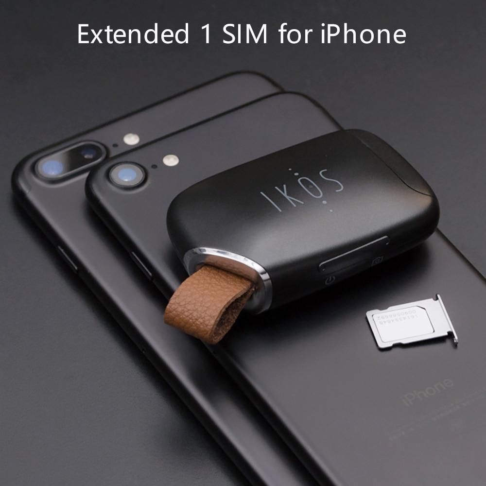Aucun Jailbreak Double Sim Double Veille Adaptateur iKOS K1S Appel Fonctions SMS Pour iPhone5-7 (7 plus)/i Pod Tactile 6th/i Pad iOS7-12