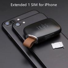 No Jailbreak 듀얼 Sim 듀얼 스탠바이 어댑터 iKOS K1S 전화 SMS 기능 iPhone5 12/ i 포드 터치 6th/i 패드 iOS7 12