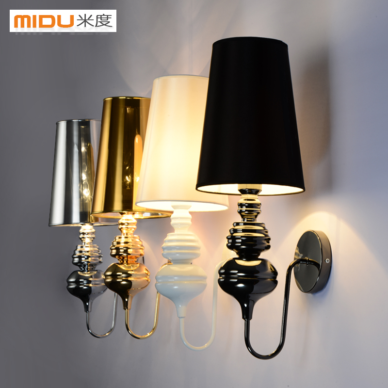 Modern brief wall lamp White /Black /Golden /Silver Spain  bedside lamp  Living roomModern brief wall lamp White /Black /Golden /Silver Spain  bedside lamp  Living room