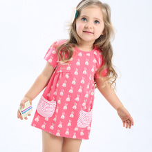 New arrival Baby Girl Summer Dress 2017 Fashion Girl s Casual Dress 100 Cotton Kids Dress