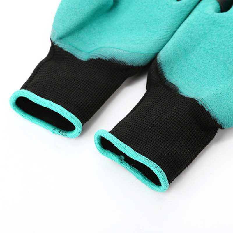 1 ペア ABS ガーデン手袋指先で 4 爪掘削植栽ゴム手袋簡単に掘ると植物剪定植栽手袋