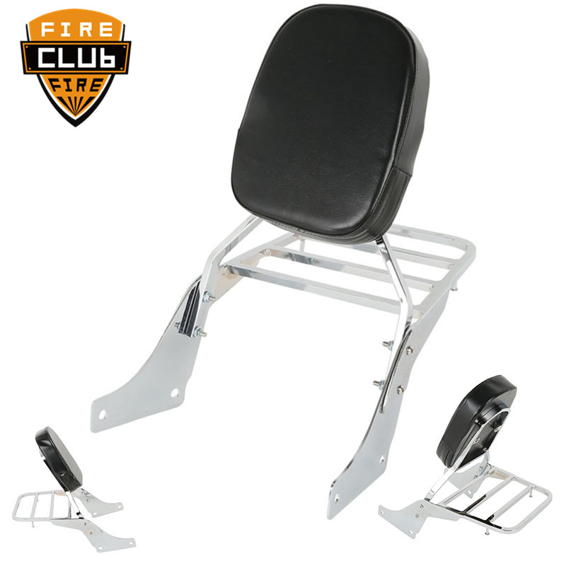 For Honda 1100 Shadow VT 1100 Passenger Rear Luggage Rack Support Holder Saddlebag Cargo Shelf Bracket Backrest Sissy Bar