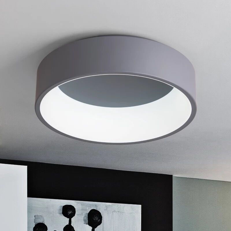 Simple Modern Round LED Ceiling Light White/Grey Circle Ceiling Mounted Lamp Home Decor Fixtures for study dining room bedroom circle