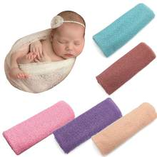 2018 Newborn Baby Girl Boy Hollow Wraps Blanket Posing Swaddle Cover newborn photography blanket props infant wrap photography(China)