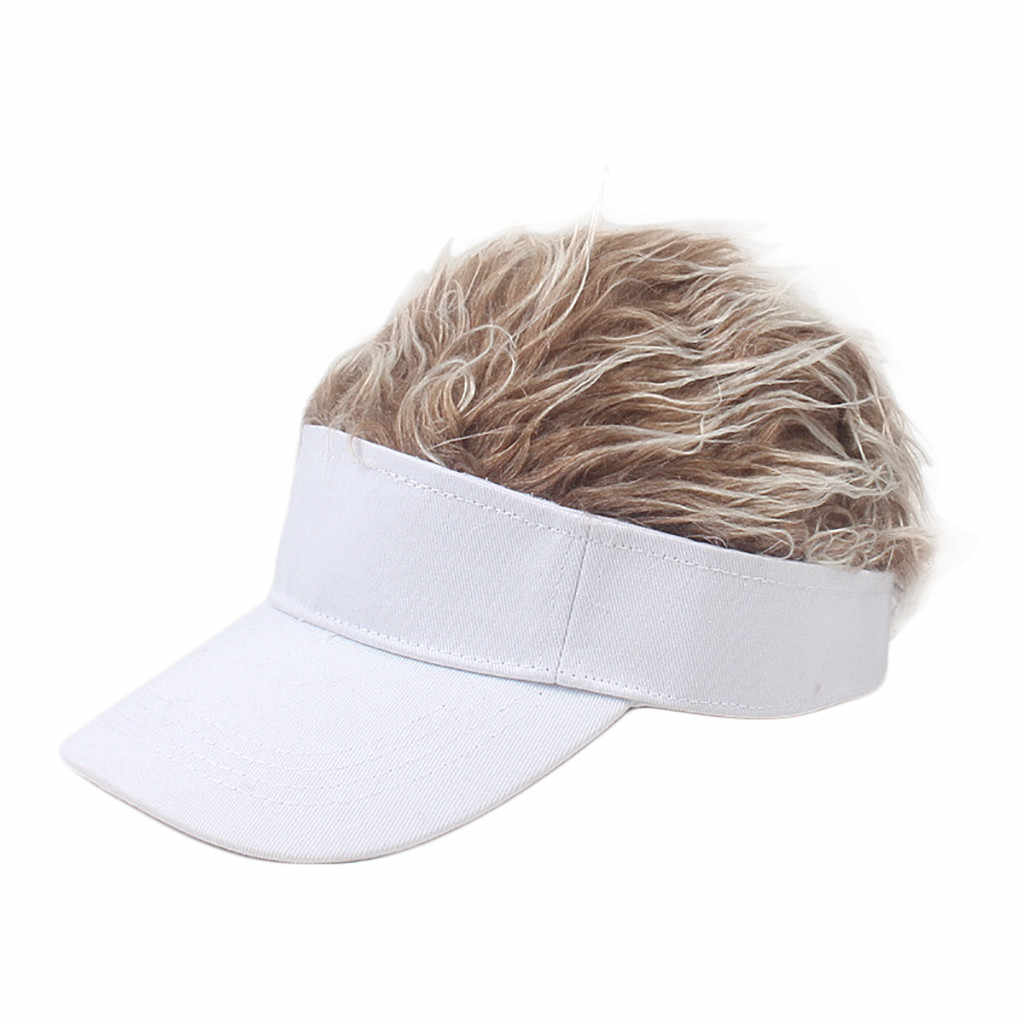 2019hat Funny Men Adjustable Wig Cap Unisex Flair Hair Visor Snapback Casual Golf Caps Outdoor Wig Cap Parent-child Street Trend
