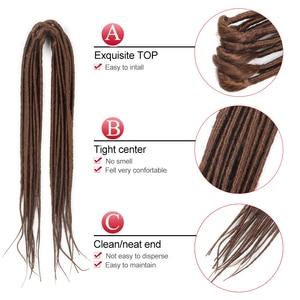 Image 5 - Sambraid nowe dredy włosy syntetyczne do warkoczy Dreads blond szydełkowe warkocze do przedłużania włosów 20 cali faux zamki dla kobiet
