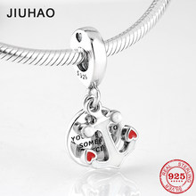 New fashion 925 Sterling Silver red heart boat anchor fine Pendants beads Fit Original Pandora Charms Bracelets making(China)