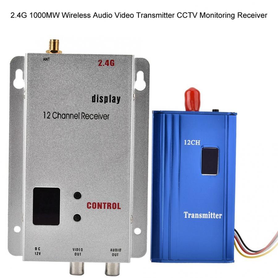 2.4G 1000MW Wireless Audio Video Transmitter CCTV Monitoring Receiver Hot|Wireless Adapter|   - AliExpress