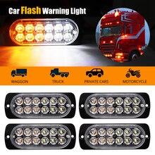 лучшая цена LED Strobe Warning Light Grille Flashing Breakdown Emergency Light Motorcycle Car Truck Side Lamp Traffic Signal Light 12V 24V