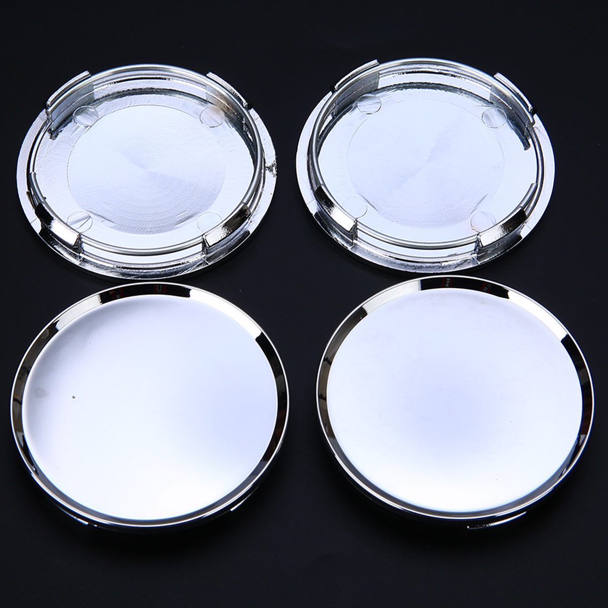 Image 4 - 4pcs/set Universal 63mm Car Vehicle Wheel Center Hub Cap Cover Silver For Most Car Trucks Vehicles-in Wheel Center Caps from Automobiles & Motorcycles