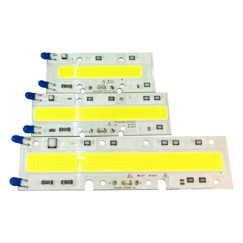 Long Strip Outdoor/Traffic/Landscape Floodlight Warm/White Led COB Chip Free Drive Smart IC Light Lamps 220V/110V 30W/50W/70W