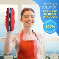 Household High intensity Magnetic Glass Window Cleaner Magnetic Window Cleaning Tool 4 Powerful Magnets 100% Natural Rubber