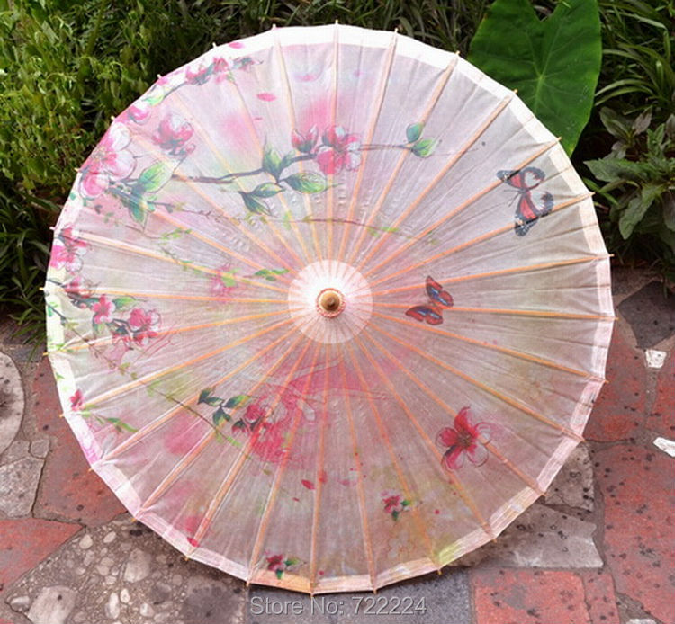 Dia 50cm Chinese Pink Peach Blossom Oiled Paper <font><b>Umbrella</b></font> Small Parasol Decoration Props Gift Cospaly Dance <font><b>Umbrella</b></font> <font><b>for</b></font> Child