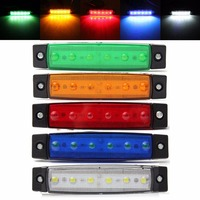 Hot Sale 10Pcs Set 12V 24V 6LED Car Truck Trailer Bus Indicators Light Side Marker LED