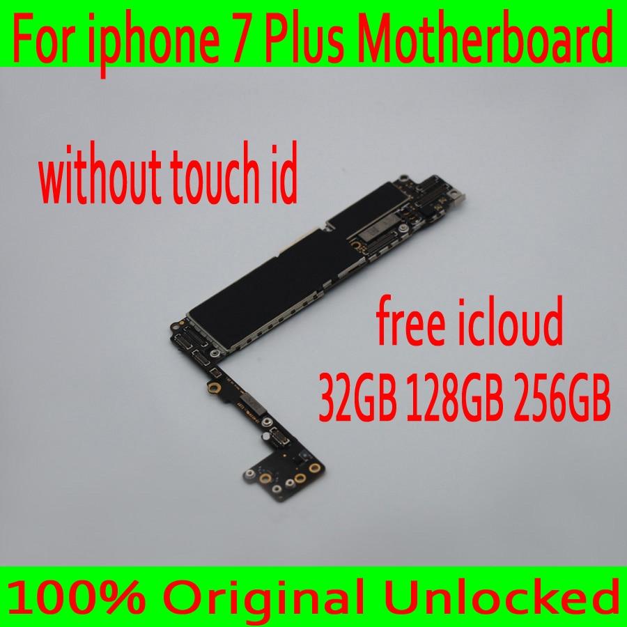 Дюймов 32 ГБ/5,5 ГБ/256 ГБ для iphone 7 Plus 100% дюймов материнская плата без Touch ID, 128 Оригинал разблокирован для iphone 7 Plus материнская плата