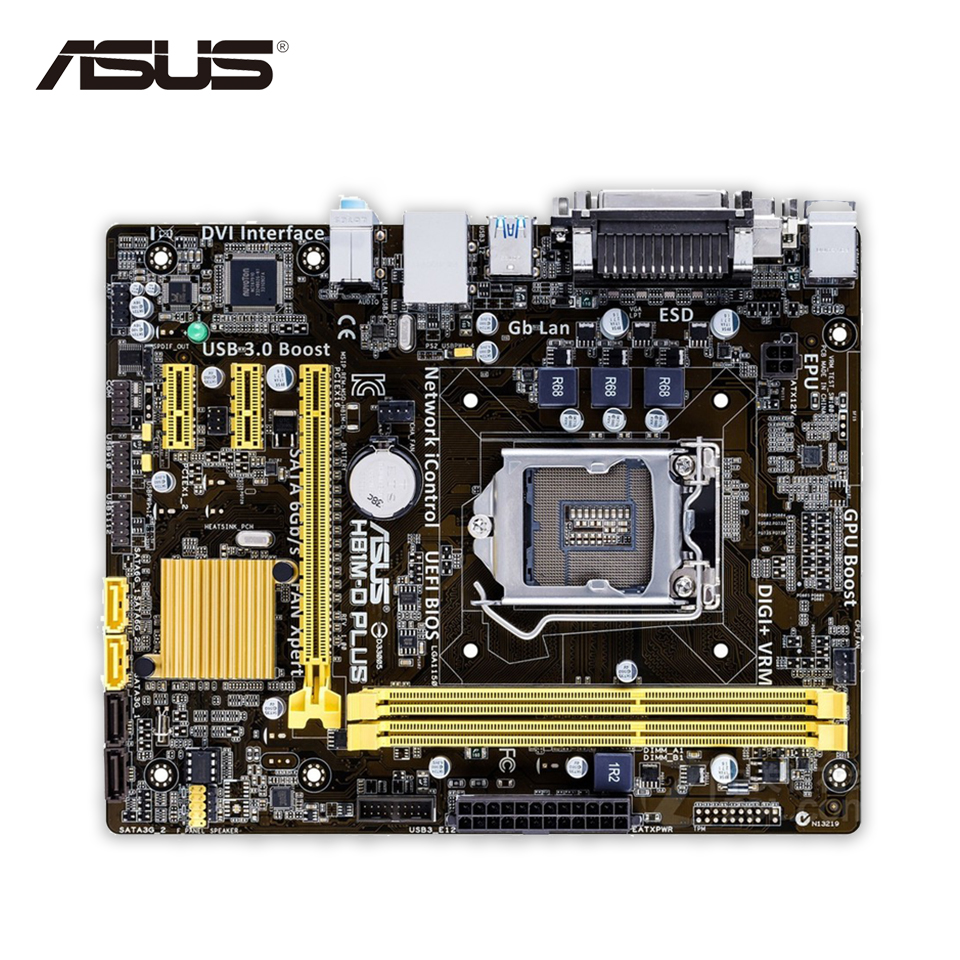 New asus h81m k motherboard cpu i3 i5 i7 lga1150 intel h81 ddr3 sata3 - Asus H81m D Plus Original New Desktop Motherboard H81 Socket Lga 1150 I7 I5 I3