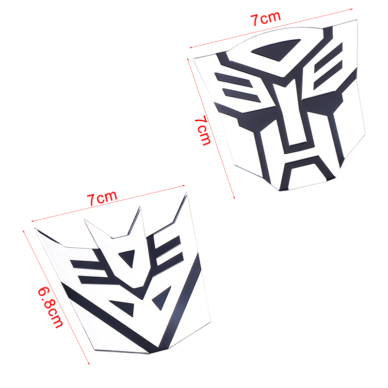 Image 5 - 3D Car Stickers Cool Autobots Logo Car Styling Metal Transformers Badge Emblem Tail Decal Motorcycle Car Accessories Automobile-in Car Stickers from Automobiles & Motorcycles