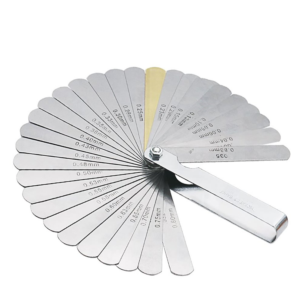 32PCS Blades Universal Thickness Gage Set Metric Guage Stainless Steel Feeler Gauges High Accuracy Gap Measuring Tool