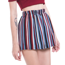 YGYEEG Pleated Shorts Women High Waist Wide Leg Stripe Skirt Shorts Summer Fashion Loose Casual Skort Hot Sale Female Sexy Short graphic print tee with pleated skort