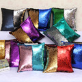 Mermaid sequin pillow cushion cover sequin DIY two tone glitter sequins throw  home decor  car covers decorative pillowcase